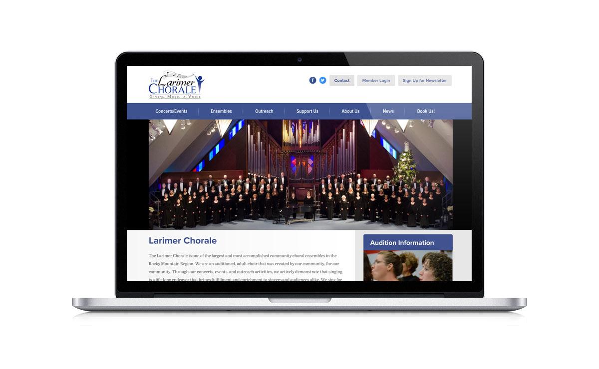 New Desktop Website Screenshot - The Larimer Chorale