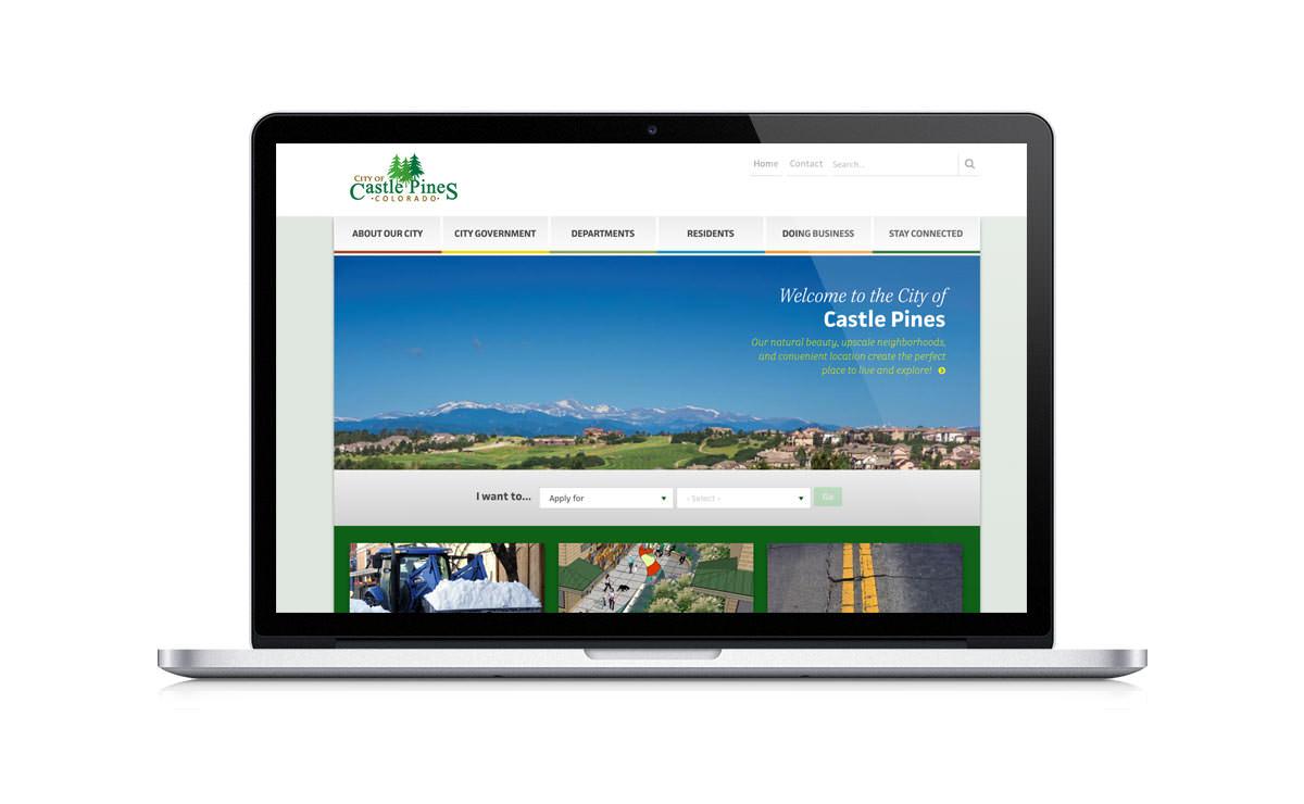 New Desktop Website Screenshot - City of Castle Pines