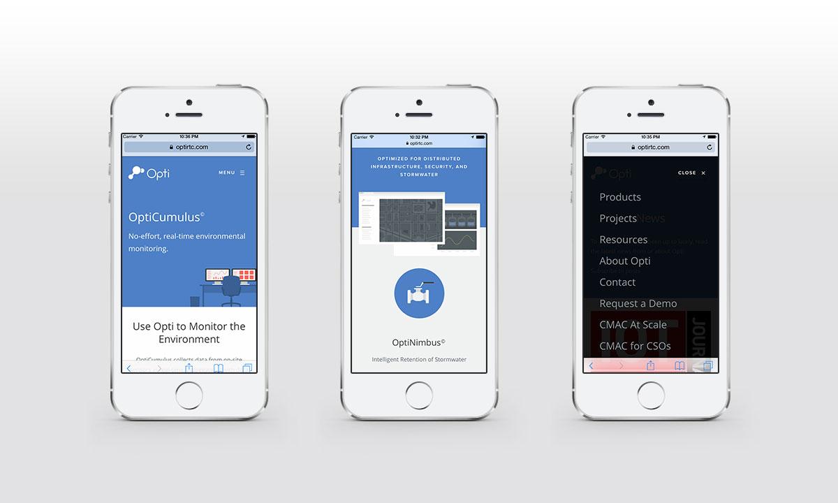 OptiRTC Responsive / Mobile view