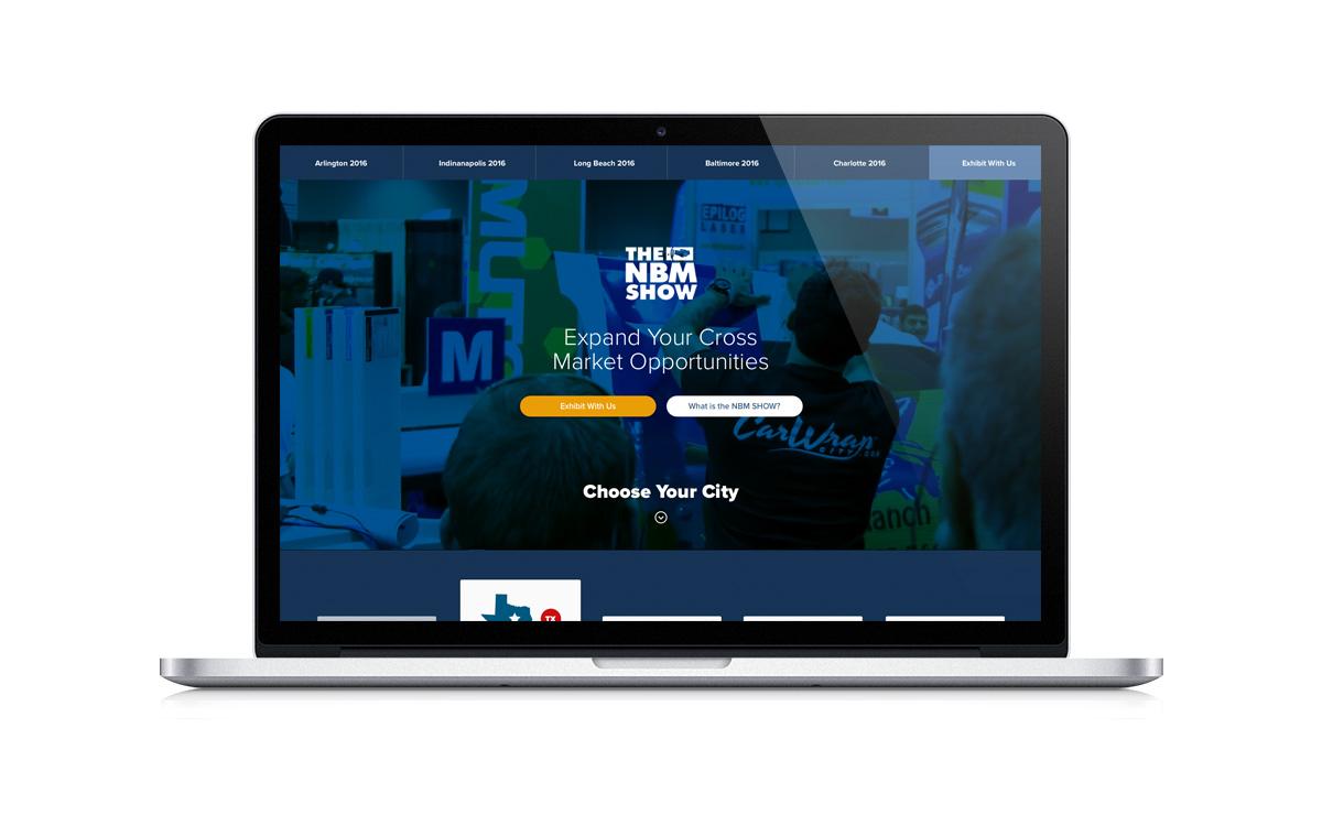 New Desktop Website Screenshot - The NBM SHOW