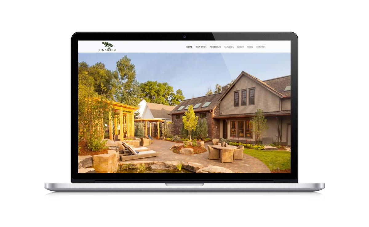 New Desktop Website Screenshot - Lindgren Landscape