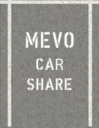 Mevo Car Share Parking Space