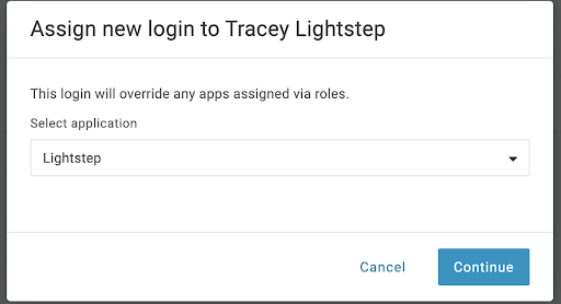 Add Lightstep to a profile