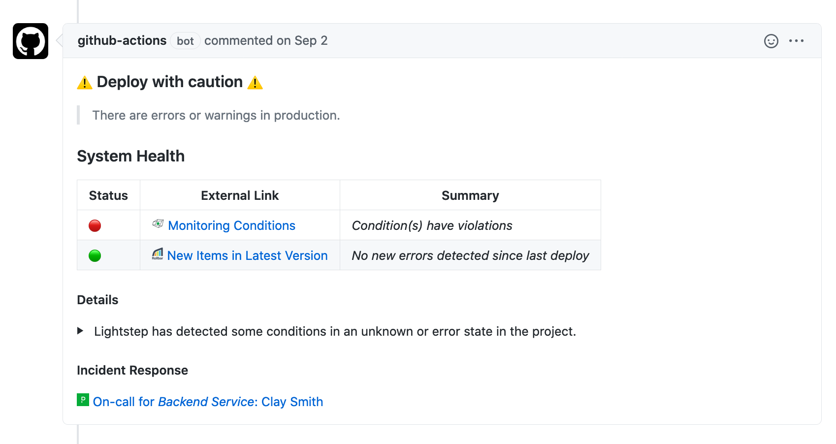Pre-Deploy action in GitHub