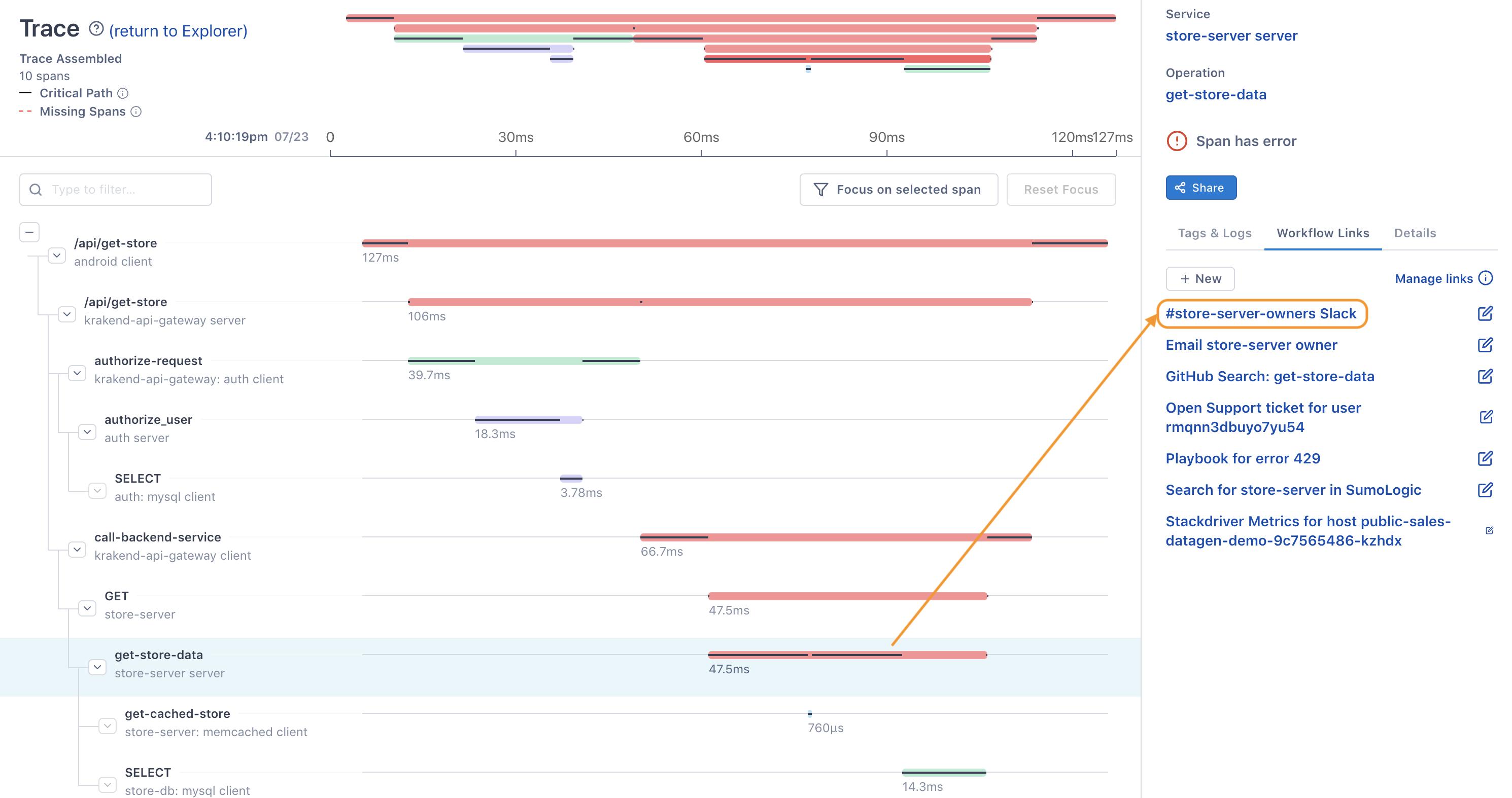 Slack Workflow Link