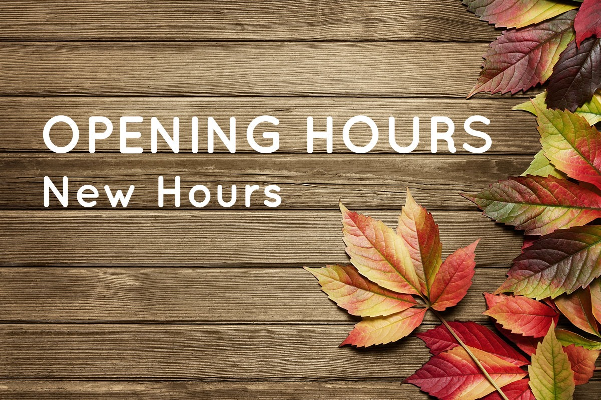 Opening Hours Changing 16th May 2020