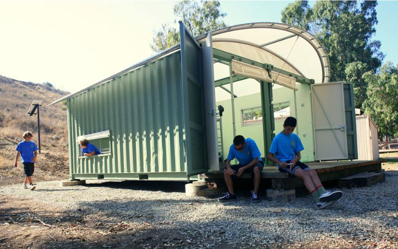 Shipping Container Eco-Cabins For Boy Scouts