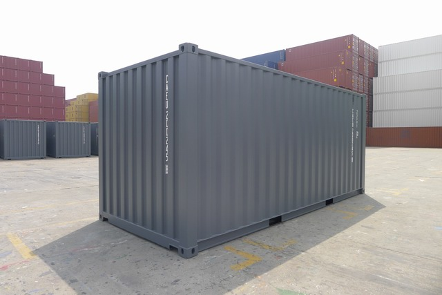 20' One Trip Container Back Gray