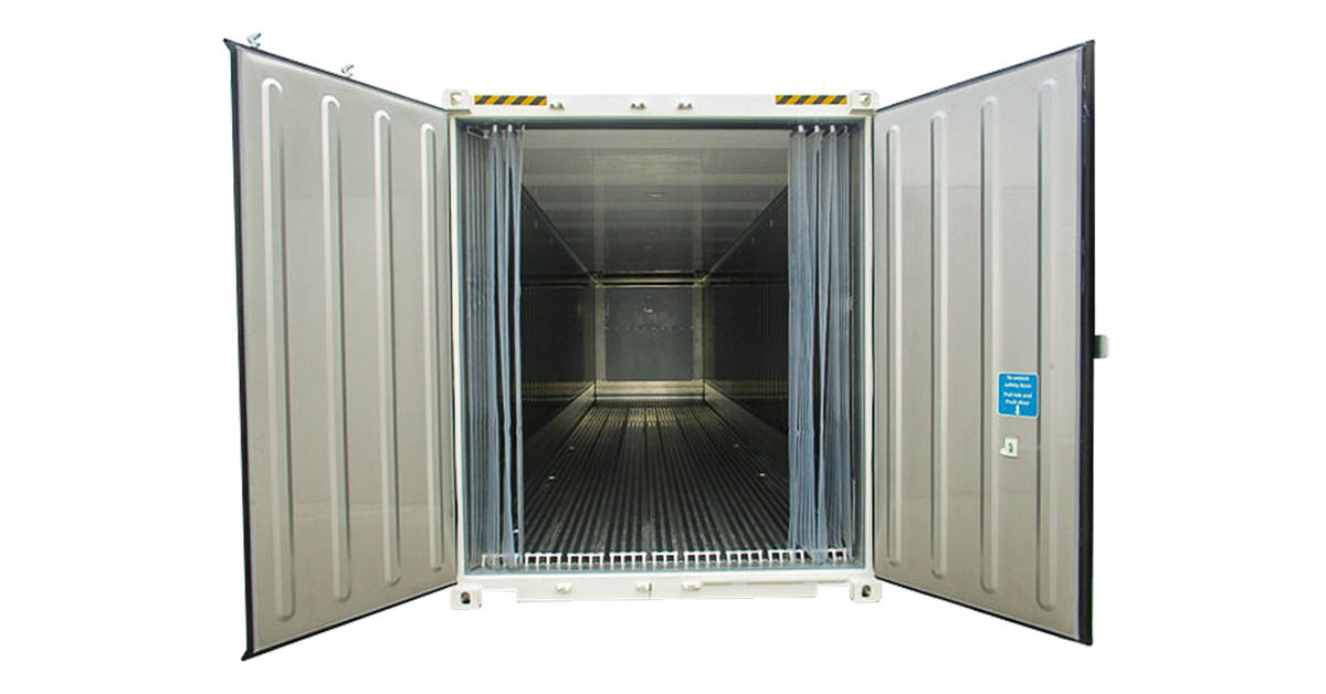 20' One Trip Refrigerated Container Interior