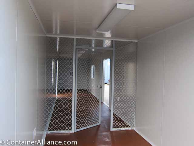 40' Office Storage Combo Container Inside