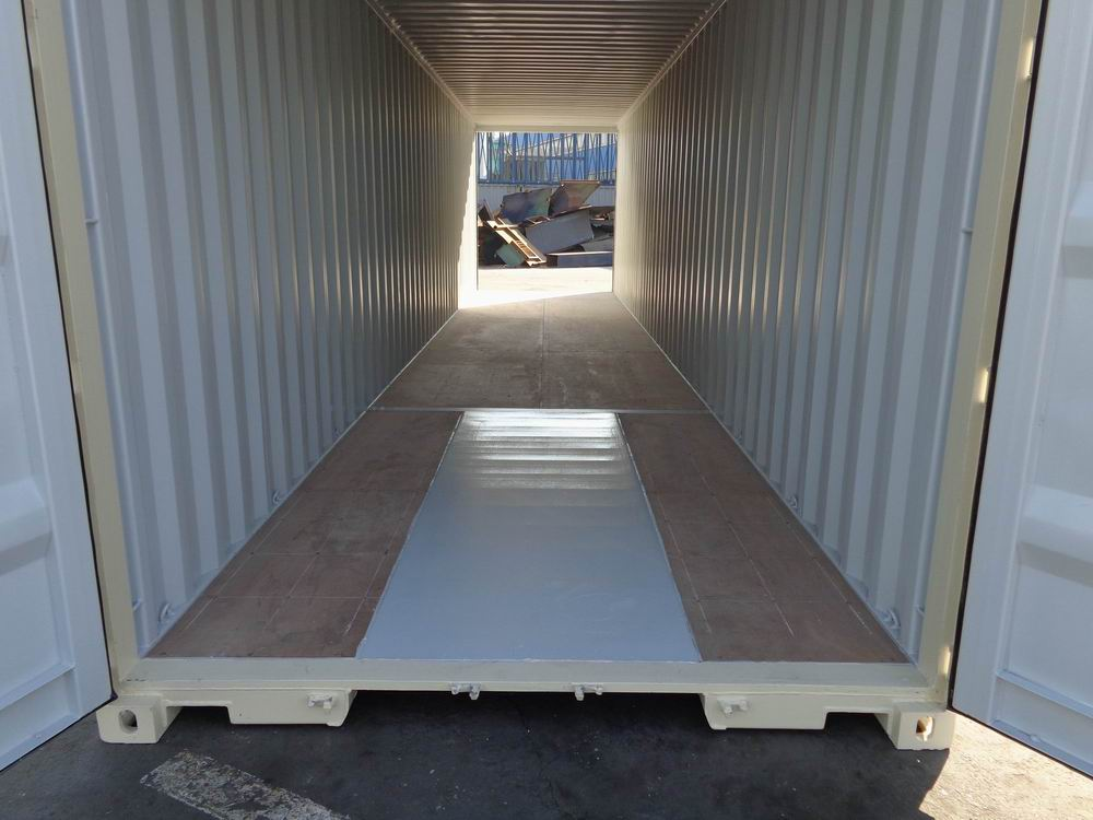 40' High Cube Double Door One Trip Container Inside