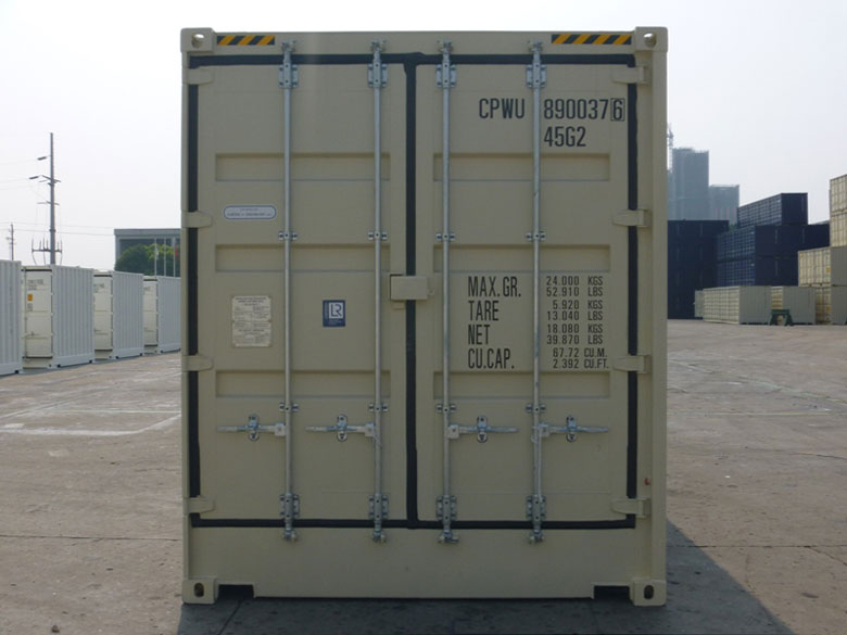 40' Open Side One Trip Container Front