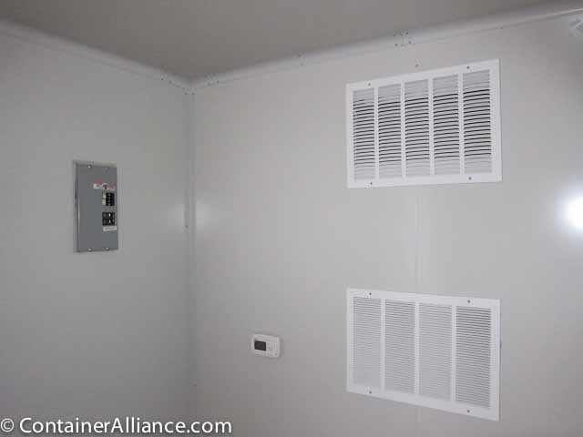 40' Office Storage Combo Container Close Inside