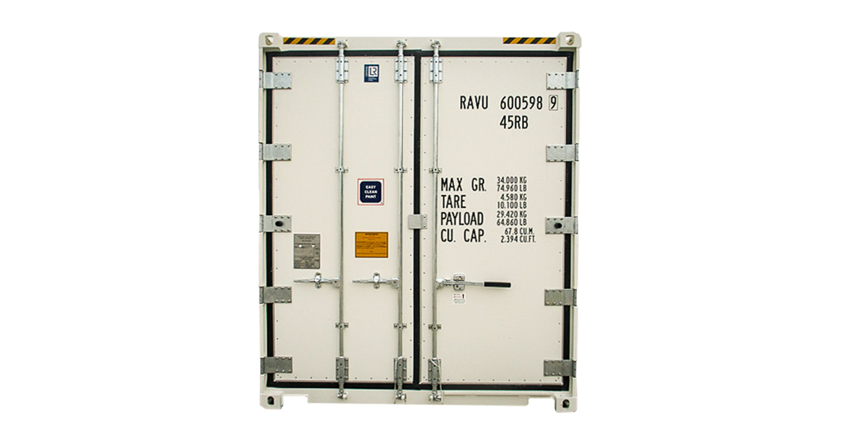 20' One Trip Refrigerated Container - Door
