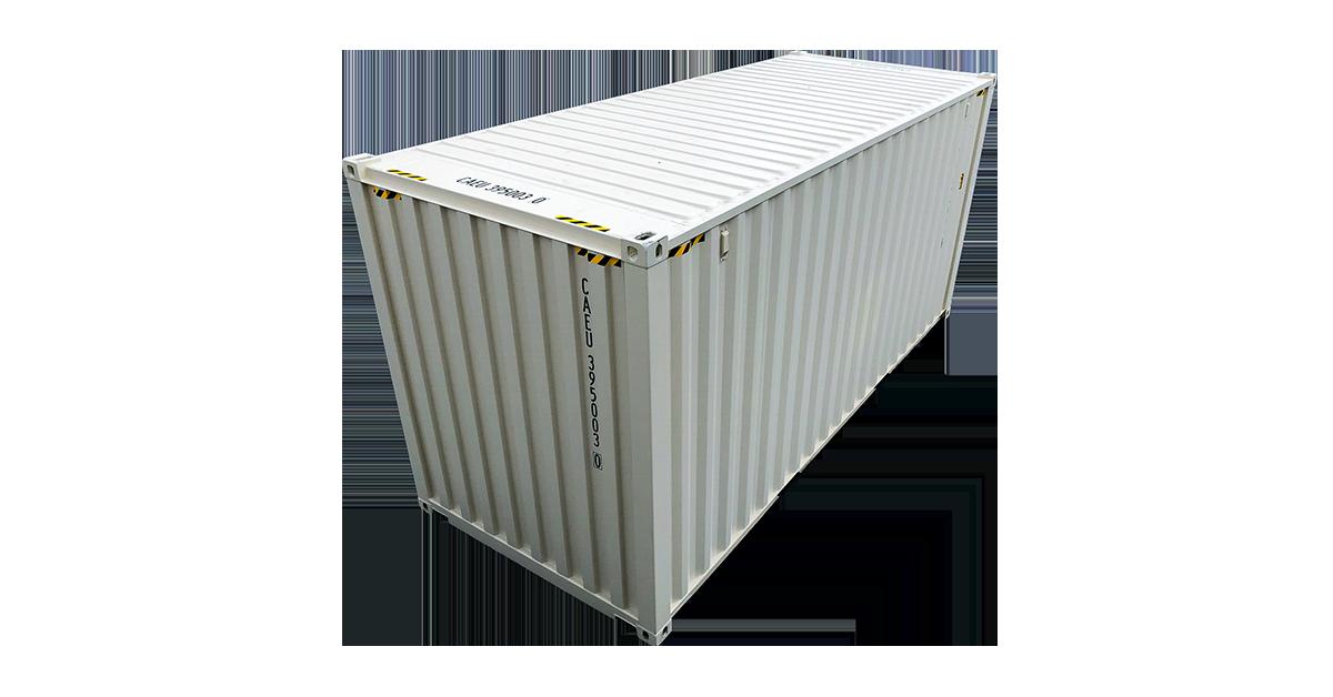 20' One Trip Container Door Open Beige