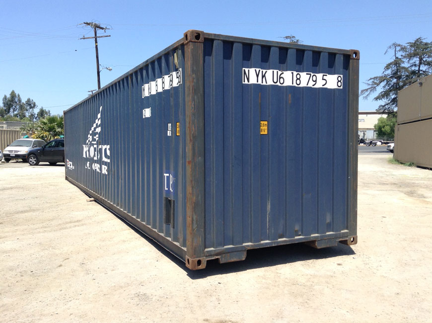 40' IICL-5 Container Back