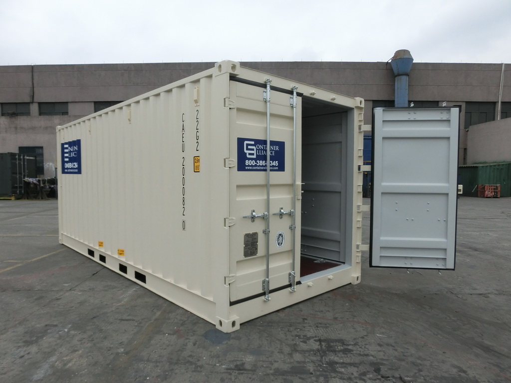 20' Open Side One Trip Container Beige
