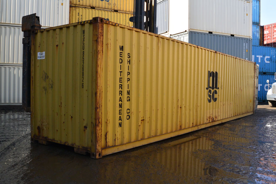 40' High Cube Cargo Worthy Container Yellow