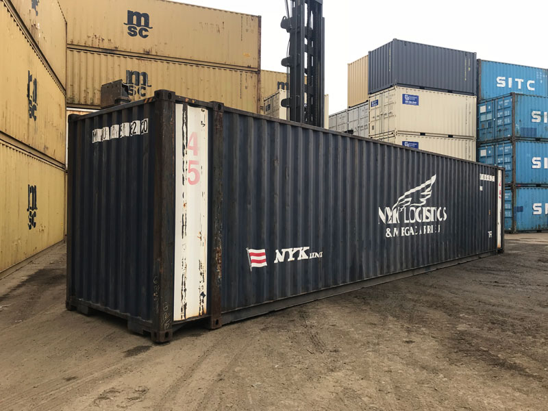 45' High Cube Wind and Water Tight Container