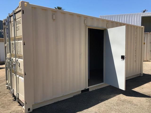 Ductless Mini Split HVAC Container Door