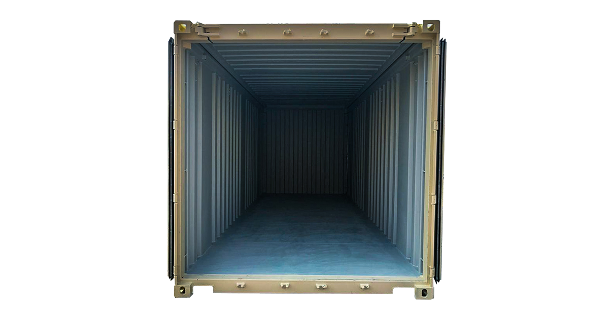 20' Hard Top One Trip Container Beige