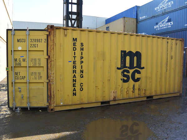 20' Wind and Water Tight Container MSC Open