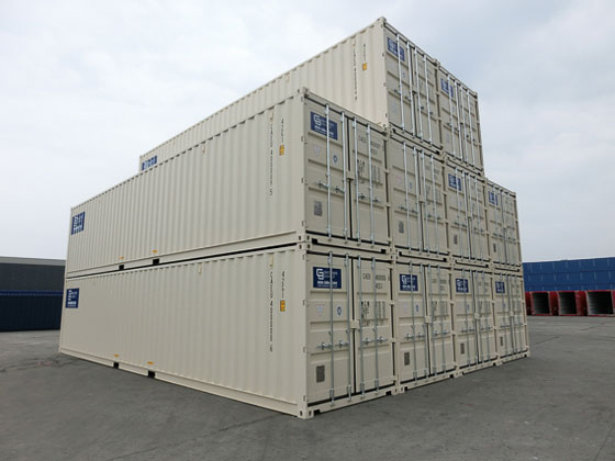 40' One Trip Container Stacked