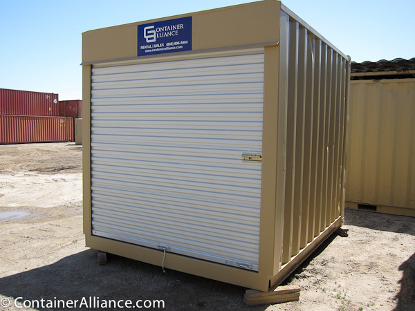 10' Refurbished Container with Roll Up Door