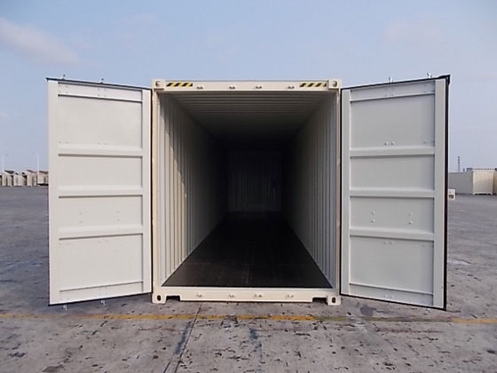 40' One Trip Container Interior