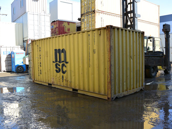 20' Wind and Water Tight Container Back MSC