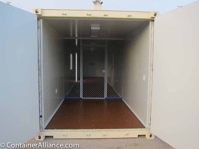 40' Office Storage Combo Container Open
