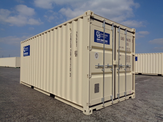 20' Rental Container Side View