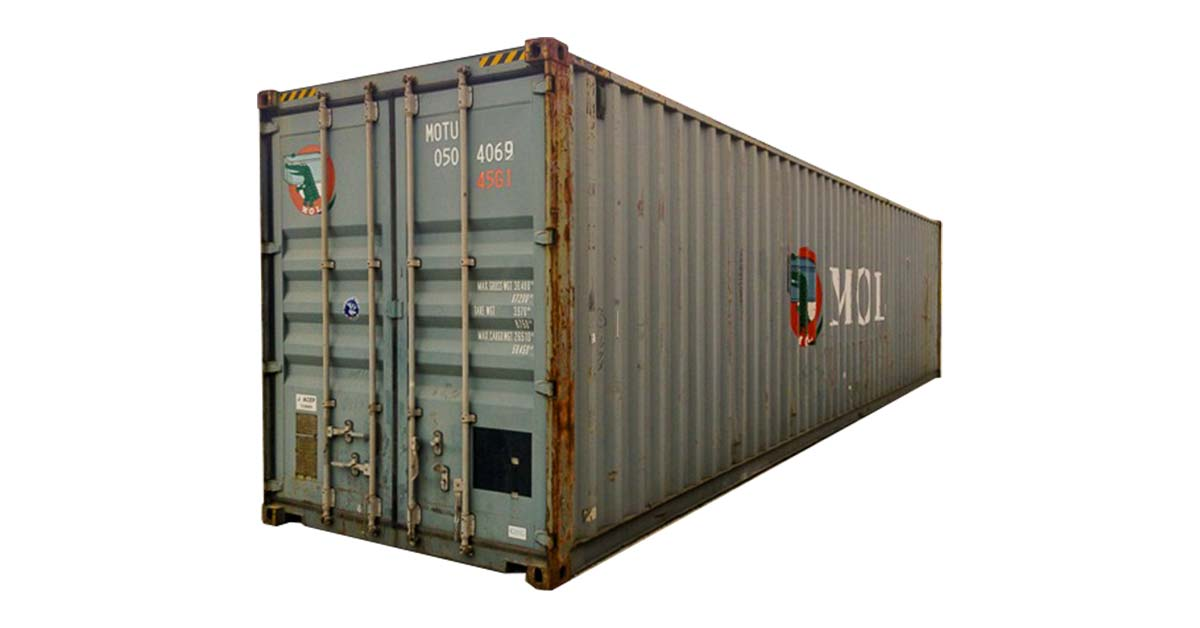 40' High Cube Cargo Worthy Container Blue Back
