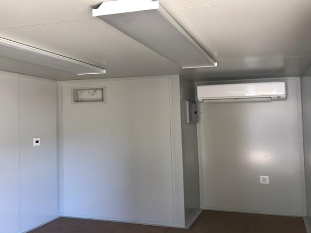 Ductless Mini Split HVAC Container Interior