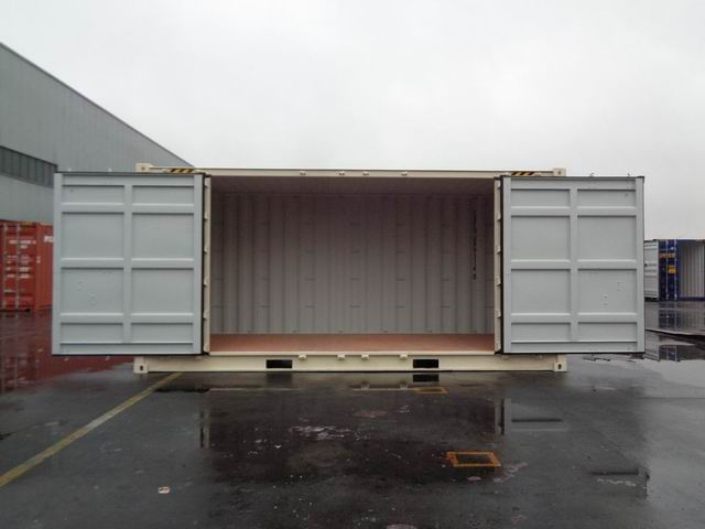 20' High Cube Open Side Doors Open