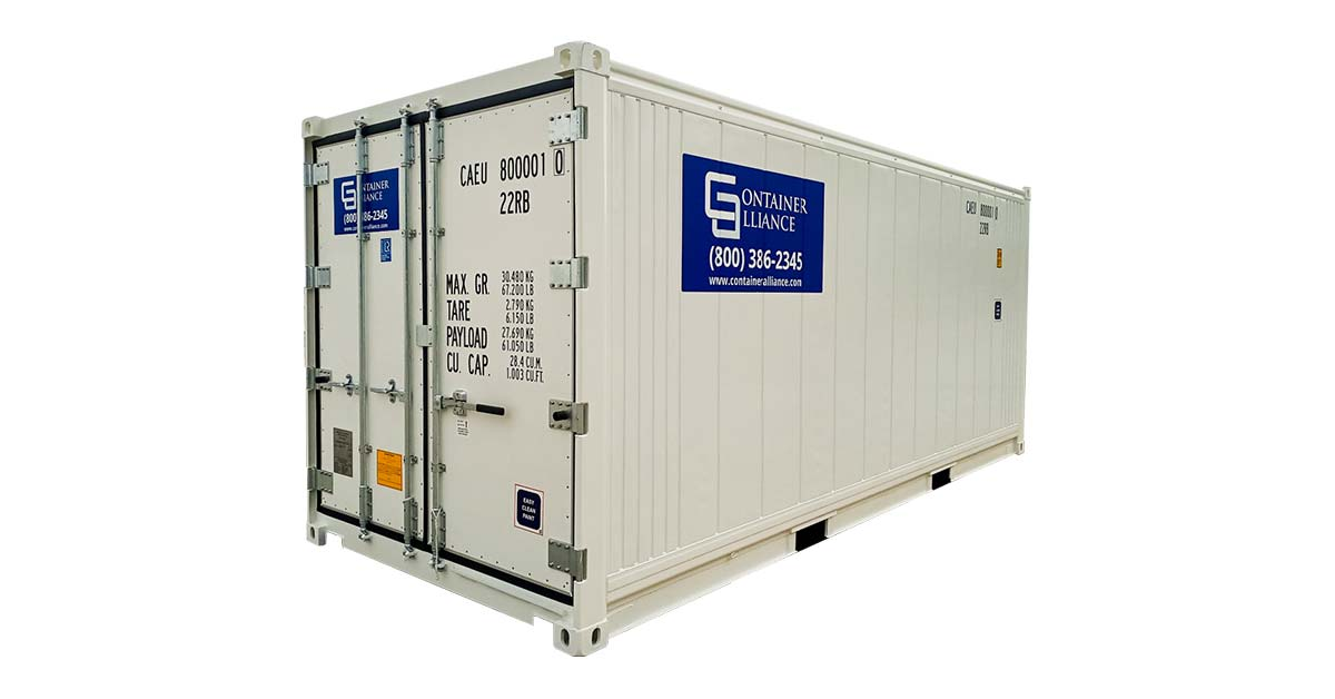 20' One Trip Refrigerated Container