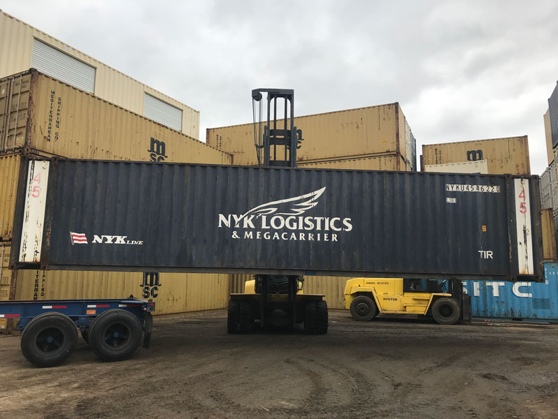45' High Cube Wind and Water Tight Container Side