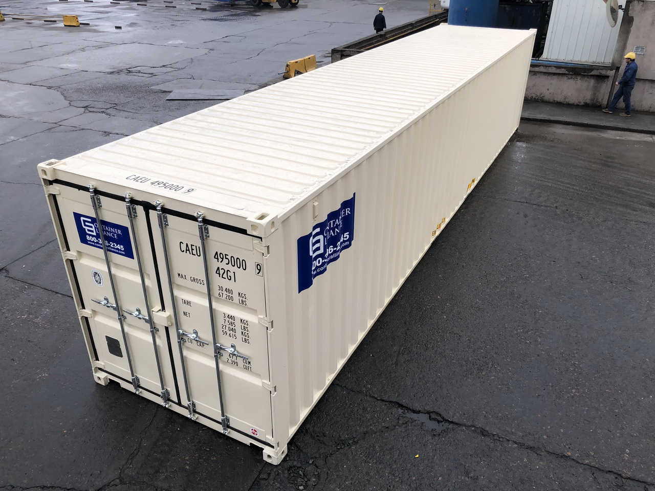 40' Rental Container Side View Los Angeles, CA