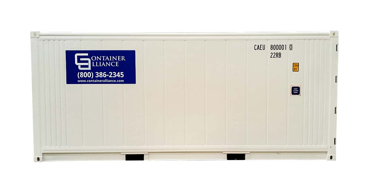 20' One Trip Refrigerated Container Side