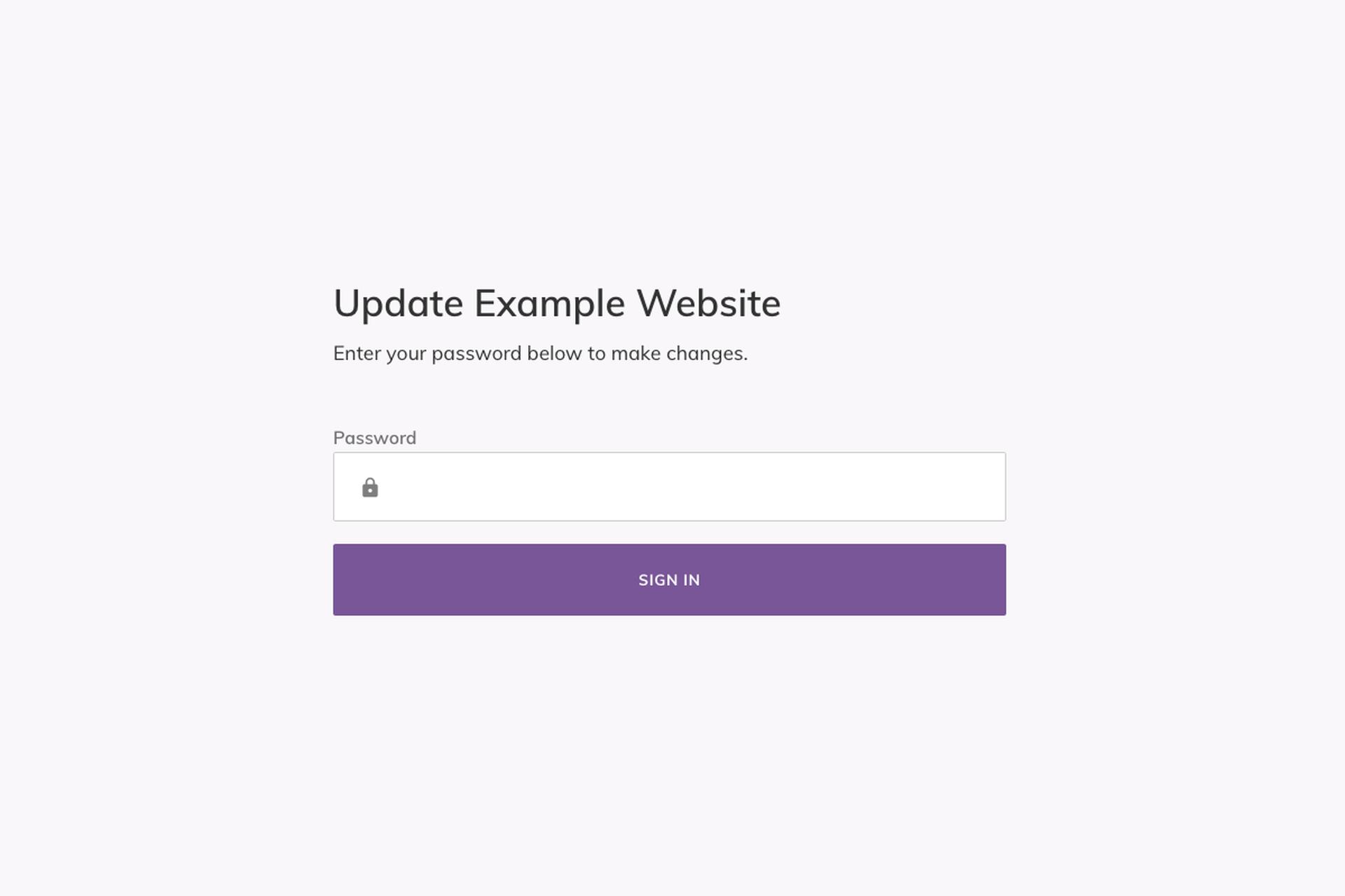 Website Dashboard