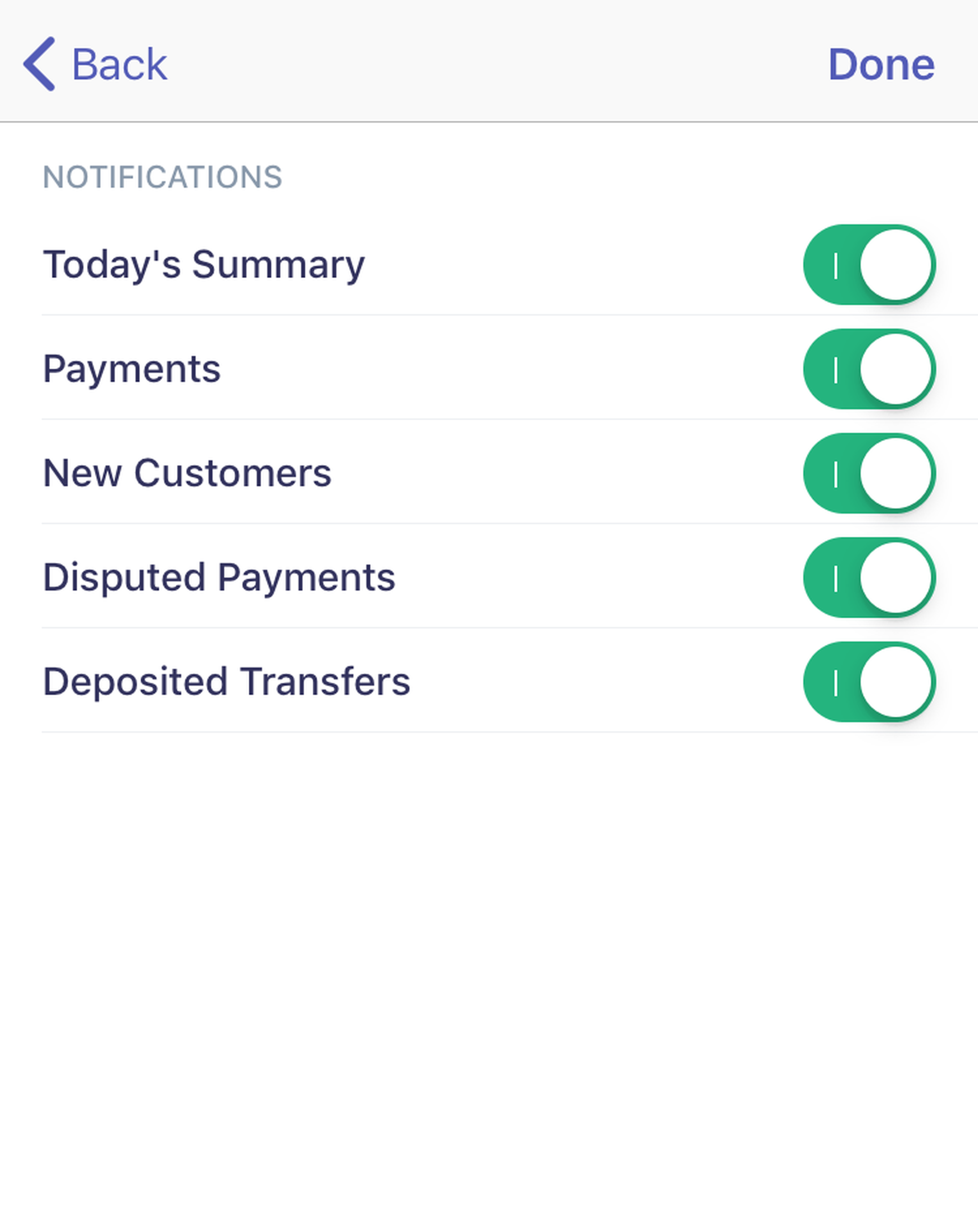 Setting up payment notifications