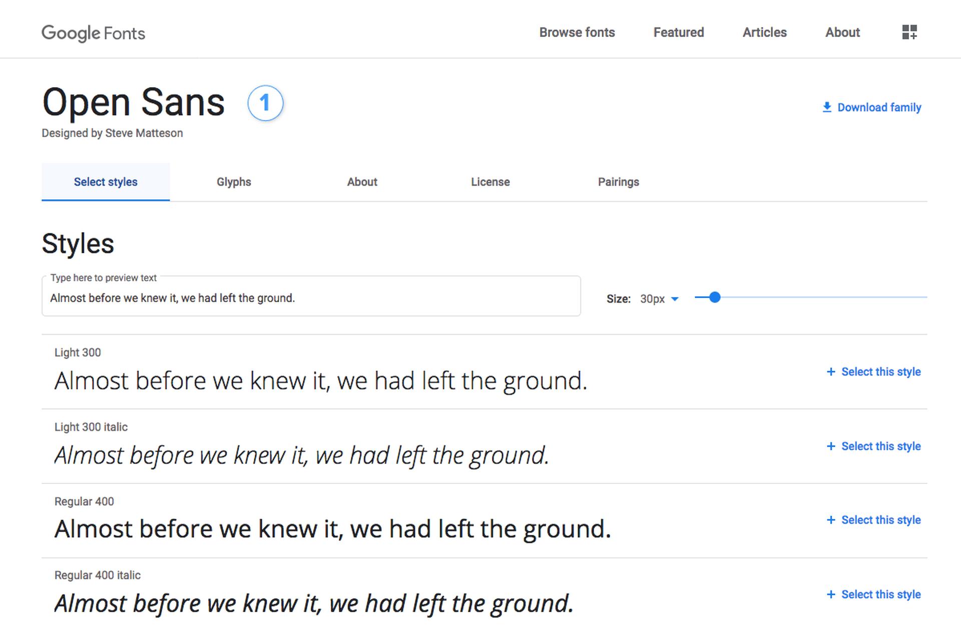 Adding Google Fonts
